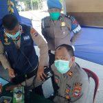 Layanan Kesehatan Bidokkes Polres Banjar di Posko PSBB