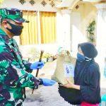 Danrem 101 Antasari Brigjen TNI Firmansyah Serahkan Bantuan Sembako Covid-19